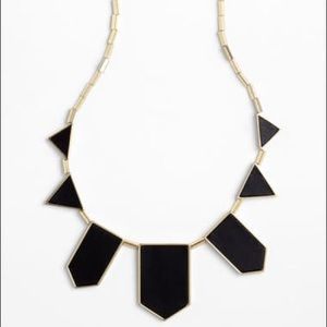 House of Harlow 1960 Black Station Necklace